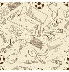 Football seamless retro vector