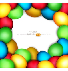 frame of easter eggs vector image