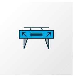 gates icon colored line symbol premium quality vector image