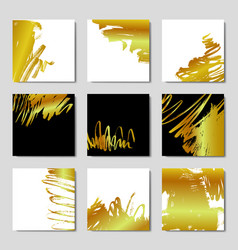 Gold background postcards vector