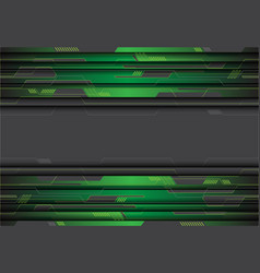 green metallic circuit on grey design modern vector image
