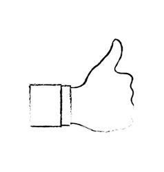 Hand like thumb up vector