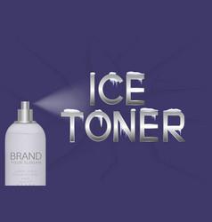 Ice toner bottle vector