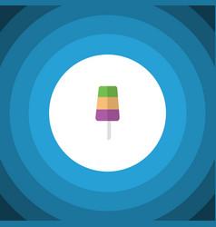 Isolated ice cream flat icon sundae vector