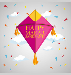 Kite style to makar sankranti celebration vector
