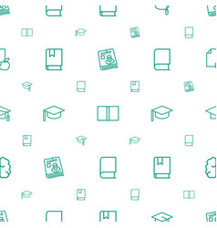 knowledge icons pattern seamless white background vector image
