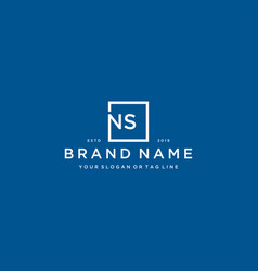 Letter ns with a square design vector