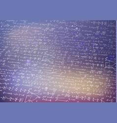 Lot of recondite math equations and formulas vector