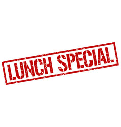 Lunch special stamp vector