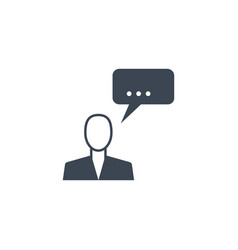 man talking related glyph icon vector image