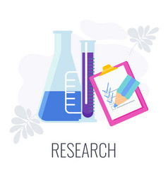 Marketing research icon flat vector
