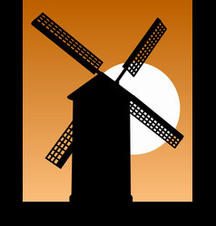mill silhouette vector image