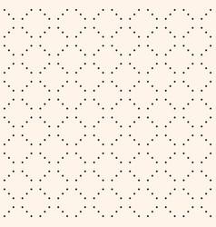 Minimalist seamless pattern small dots in grid vector