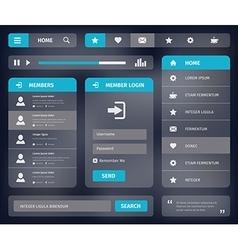 mobile web UI template design vector image