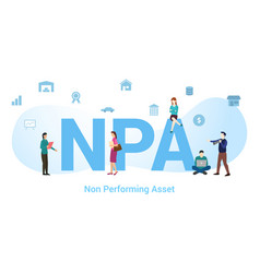 npa non performing asset concept with big word or vector image