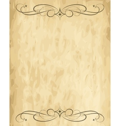 old paper sheet vector image