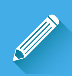 pencil pictogram icon simple flat for business vector image