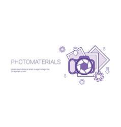 photo materials media data concept template web vector image