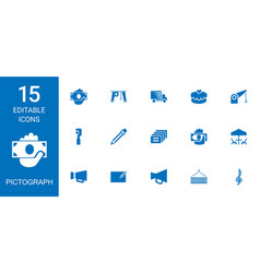 pictograph icons vector image