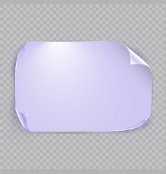 purple sheet of paper with shadow isolated on vector image