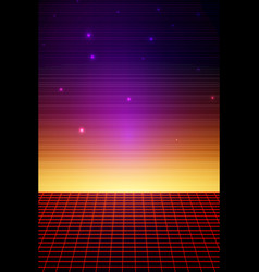 Retro sci fi background vector