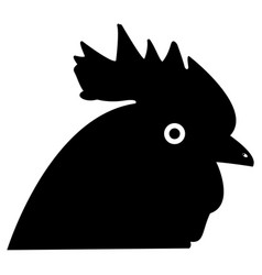 rooster head the black color icon vector image