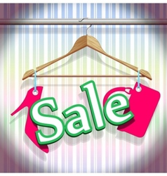 sale clothing hangers vector image