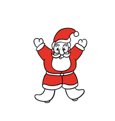 Santa claus rejoices christmas and new year vector
