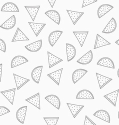 Seamless grey pattern with watermelons Pattern of vector image