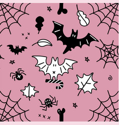 seamless pattern for halloween cartoon pattern vector image