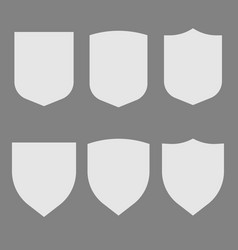 security assurance contour white icons isolated vector image