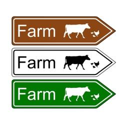 Sign farm vector image