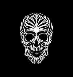 sugar skull day of the dead vector image