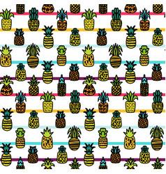 Summer fruits hand drawn seamless pattern vector