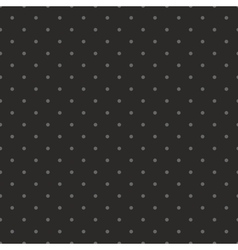 Tile dark pattern with grey polka dots on black vector