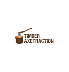Timber axe logo design vector