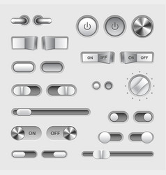 Toggle switch buttons set vector