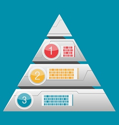 Triangle Info Graphic Layer Modern vector image