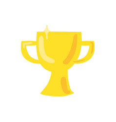 trophy cup flat color vector image