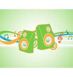 vector illustration musical theme with speakers vector image