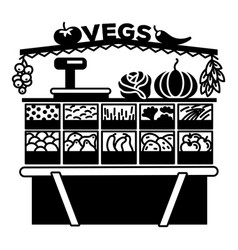 vegetable stall con simple style vector image