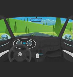 Vehicle salon driver view dashboard control vector