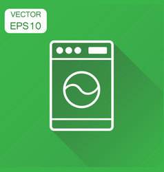 Washer icon business concept laundress pictogram vector