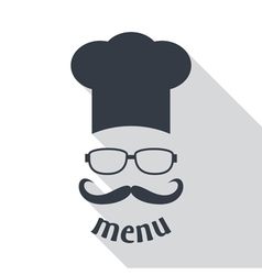Hipster chef vector image vector image