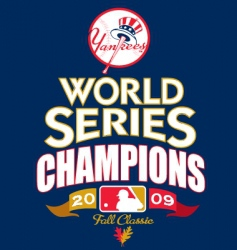 mlb 2009 world champs vector image vector image