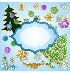 scrapbooking set for Christmas vector image vector image