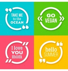 Set of quote frame templates with text vector image