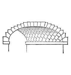 skew arch rectangle regular vintage engraving vector image vector image