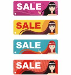 fashion labels vector image vector image
