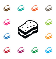 isolated sandwich icon toast element can vector image